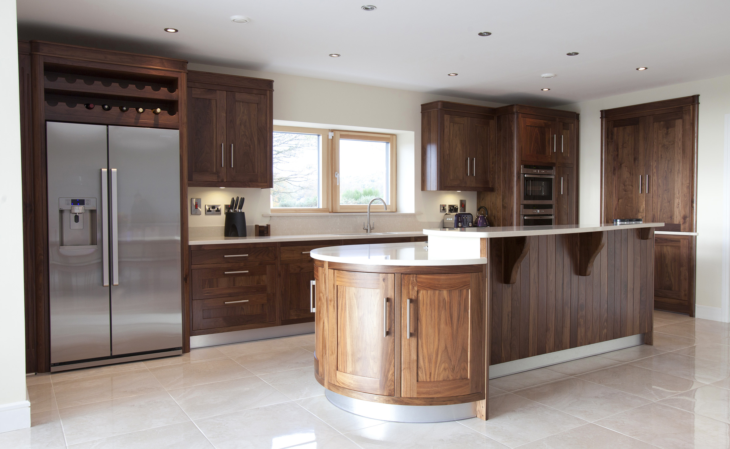 With Quartz Countertops With Cherry Cabinets Also Honey Oak Kitchen . Full resolution  portraiture, nominally Width 2362 Height 1454 pixels, portraiture with #8B5E40.